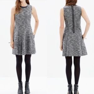 Madewell The Anywhere dress in tweed grey size 12